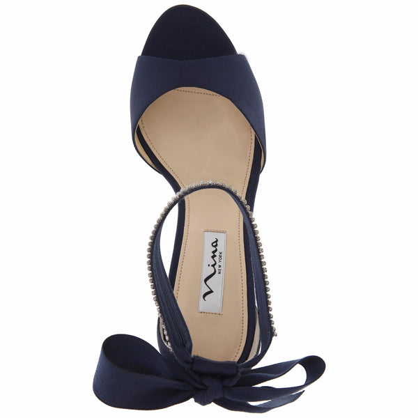 NEW NAVY LUSTER SATIN