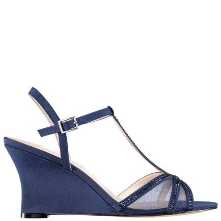 ELENORA-NEW NAVY SATIN