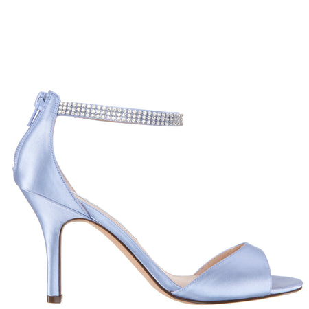 DELOISE-SKY BLUE-CRYSTAL SATIN