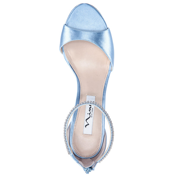 VOLANDA-LIGHT BLUE SATIN