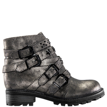 SUSANAH-BLACK DISTRESSED METALLIC