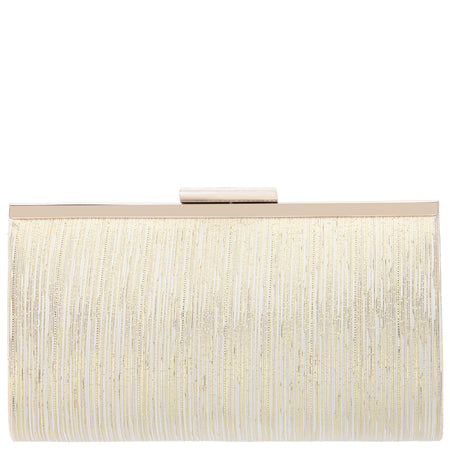KINSEY-IVORY/GOLD PLEATED