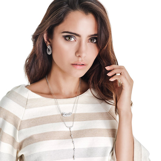 YARA NECKLACE-WHITE GOLD