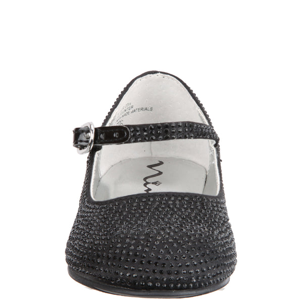 ZELIA-TODDLER-BLACK SATIN