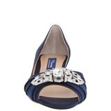 RADHA-NEW NAVY SATIN