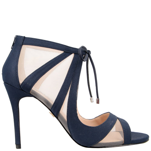 CHERIE-NEW NAVY SATIN