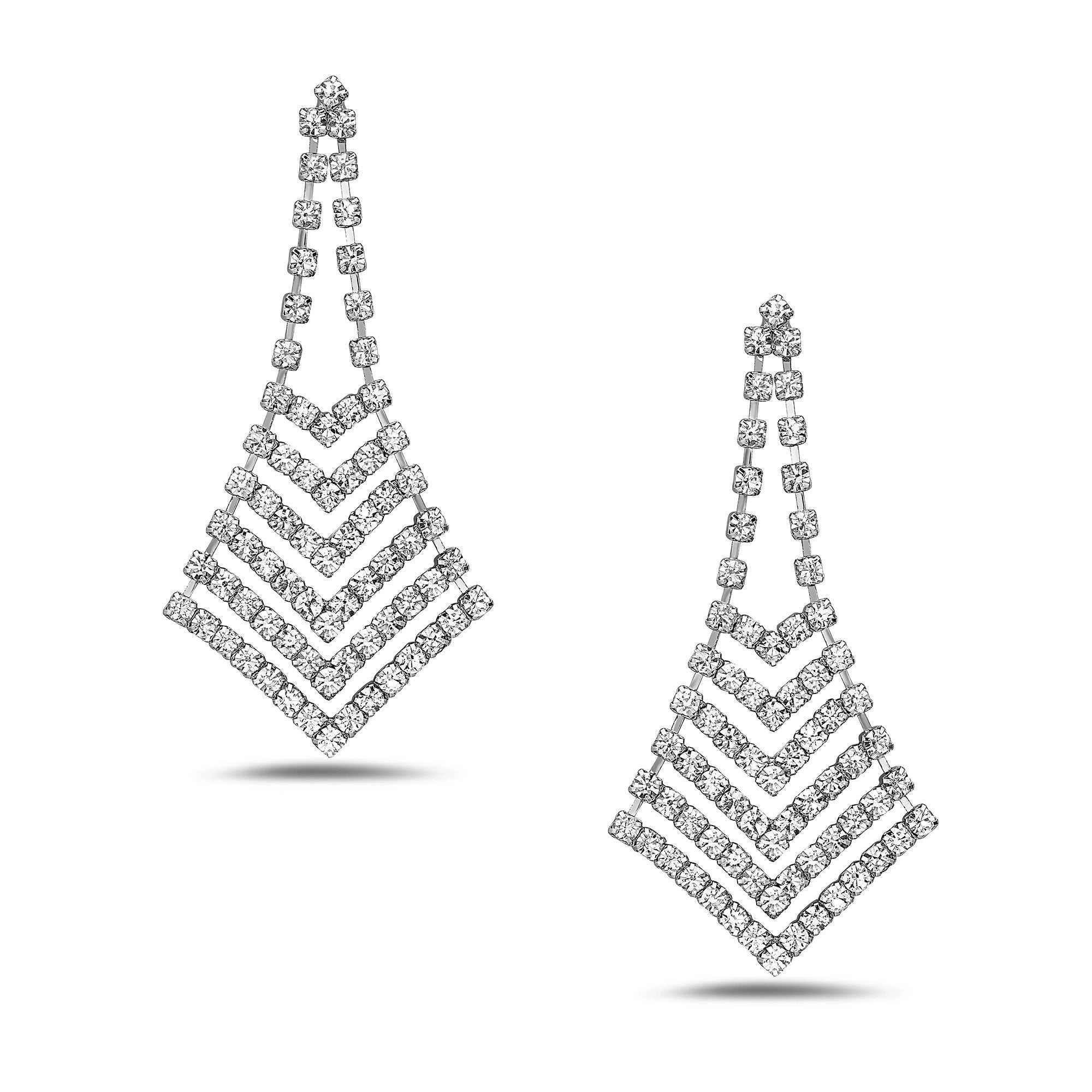 women drop crystal waterfall white earrings greed fit swarovski zoom john