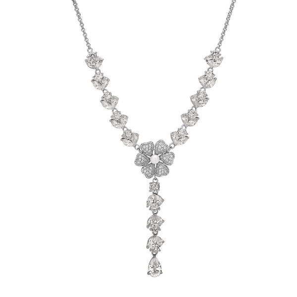 EDENE NECKLACE-WHITE GOLD