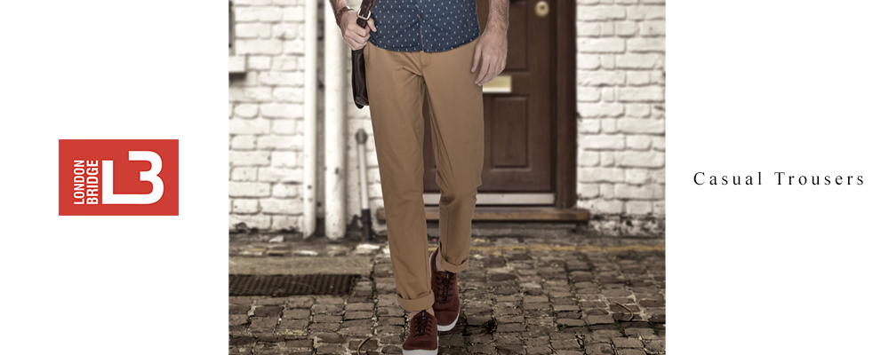 London Bridge Men's Casual Trousers