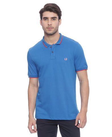London Bridge Blue Polo Neck T-shirt