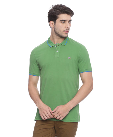 London Bridge Green Polo Neck T-shirt