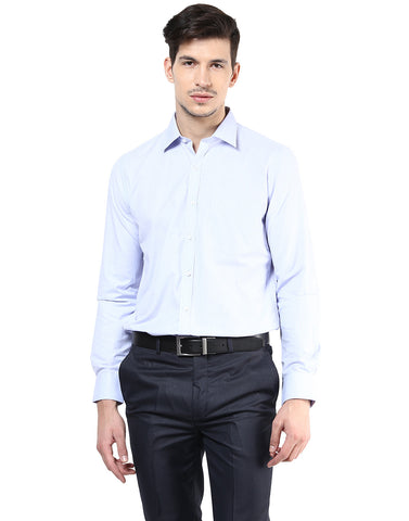 Fil-a-fil Sky Blue Formal Shirt