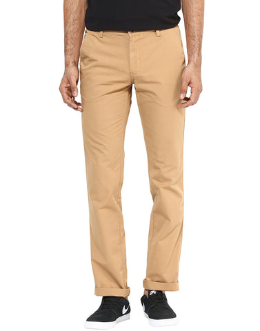 Beige Casual Trouser