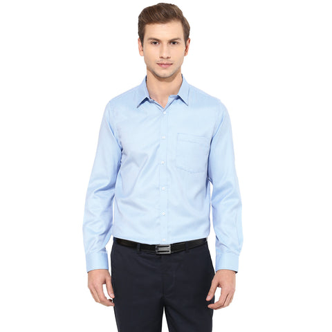 Blue Structured Formal Shirt