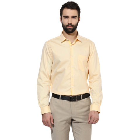 Solid Yellow Formal Shirt