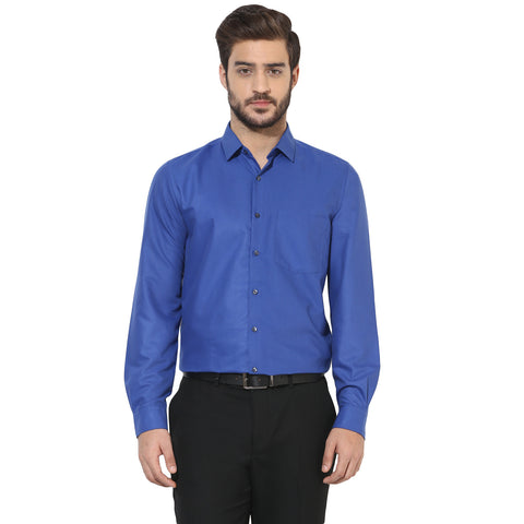 Solid Blue Formal Shirt