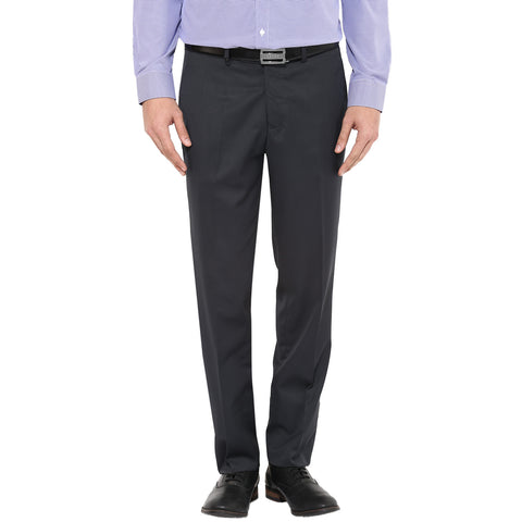 Solid Grey Formal Trousers