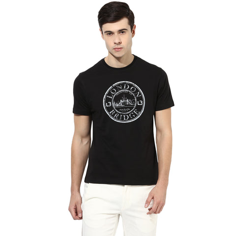 Black Single Jersey Round Neck T-Shirt