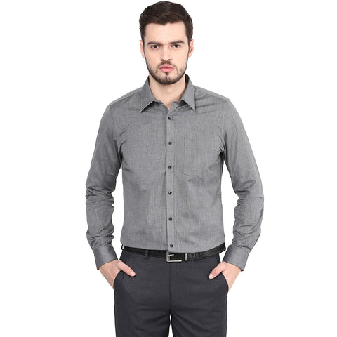 Black Solid Formal Shirt