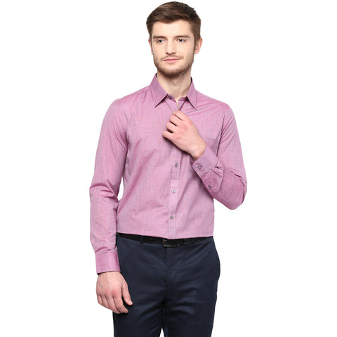 Pink Solid Formal Shirt