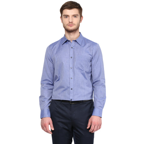 Blue Fil-a-fil Formal Shirt
