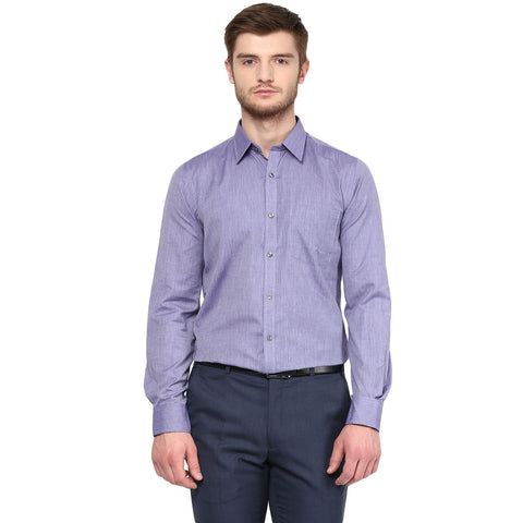 Purple Solid Formal Shirt