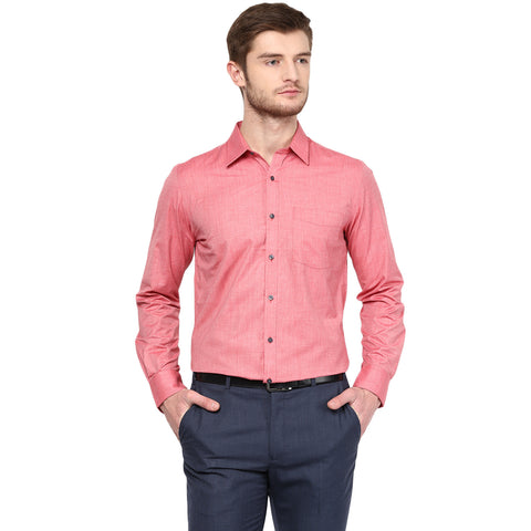 Red Solid Formal Shirt