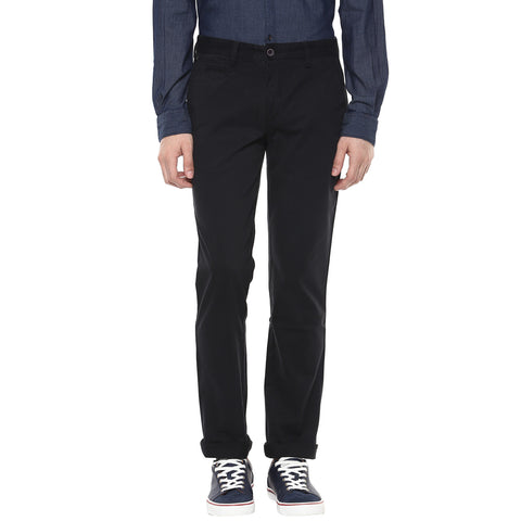 Black Casual Trouser With Stretch