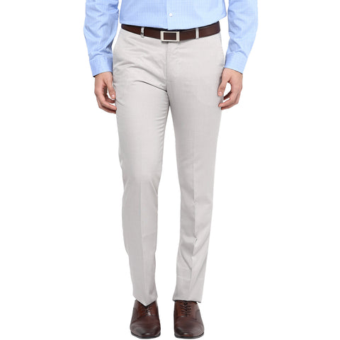 Beige Formal Trouser