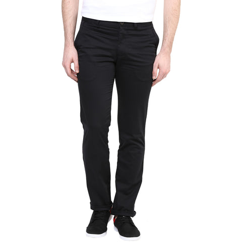 Black Solid Casual Trouser