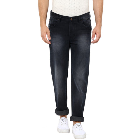 Navy Blue Low Rise Corduroy Denims With Stretch