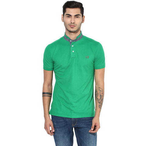 Green Pique Knit T-Shirt