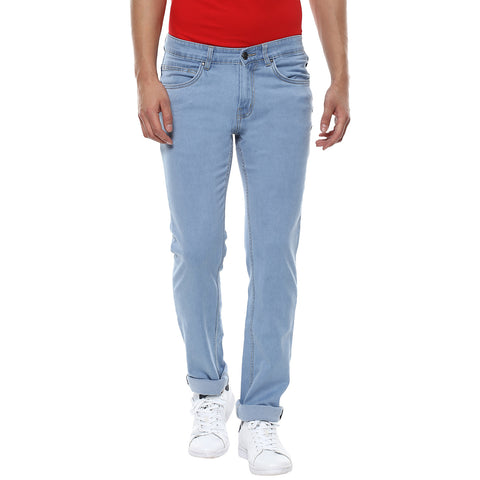 Light Blue Low Rise Denims With Stretch
