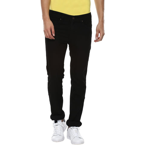 Black Low Rise Denims With Stretch