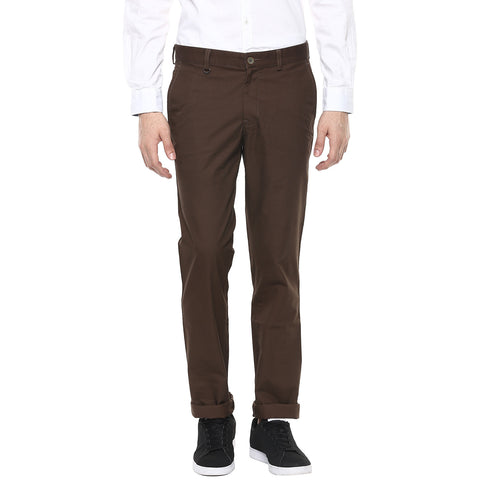 Dark Brown Casual Trouser
