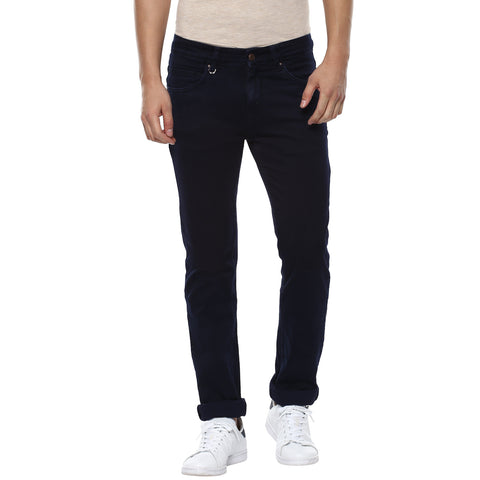 Navy Blue Low Rise Denims With Stretch