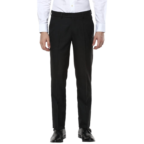 Grey Melange Structured Formal Trouser