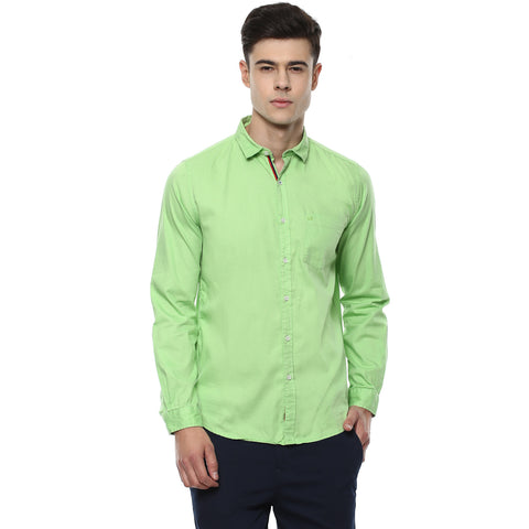 Solid Green Casual Shirt