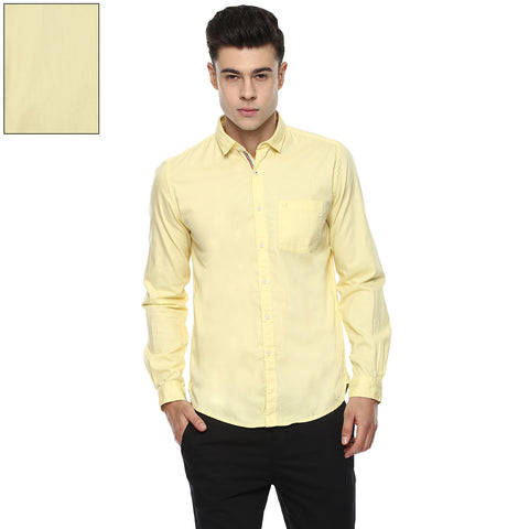Solid Yellow Casual Shirt
