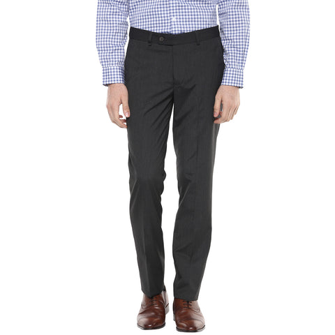 Grey Melange Formal Trouser