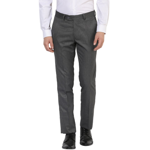 Light Grey Structured Formal Trouser