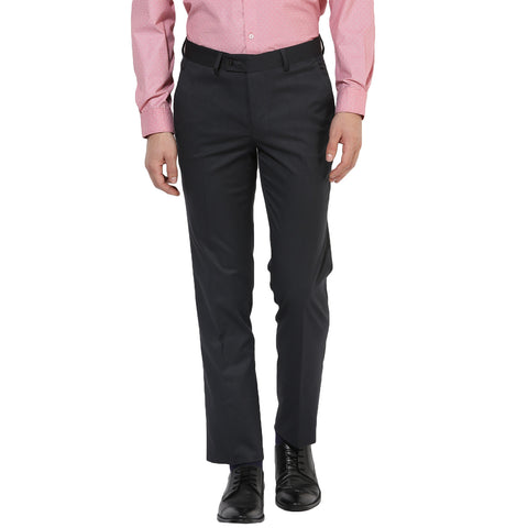 Grey Structured Formal Trouser