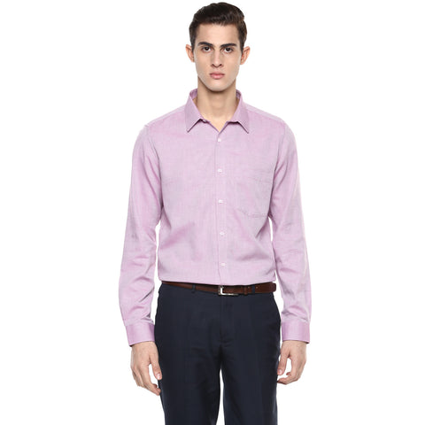 Dark Pink Structured Formal Shirt