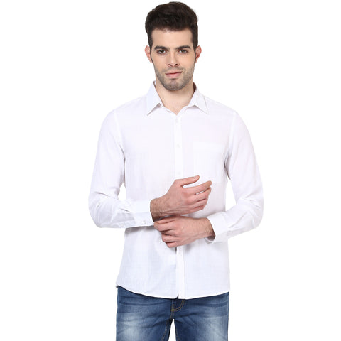 Solid White Formal Shirt