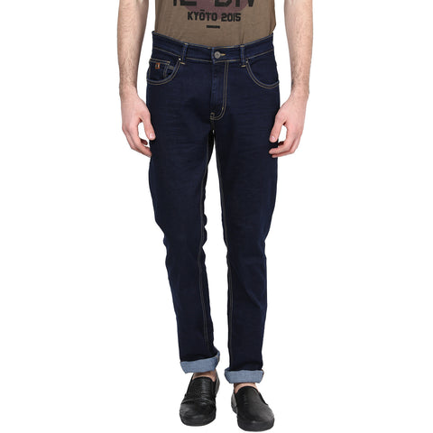 Navy Blue Jeans With Stretch
