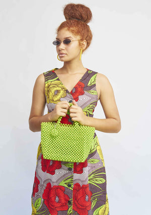 YEVU Accessories - Bag Beaded Bag - Lime Green