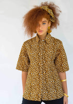 Button Down Shirt - Leopard