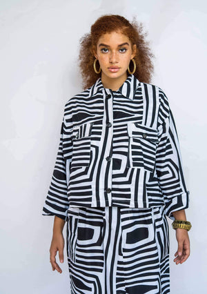 YEVU Women - Jacket Crop Jacket - Monochrome