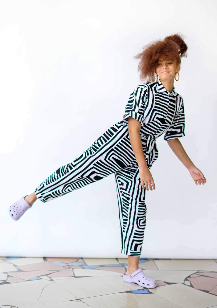 YEVU Women - One Piece Day/Night Boiler Suit - Monochrome