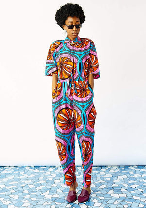 YEVU Women - One Piece Day/Night Boiler Suit - Tangerine Dreams